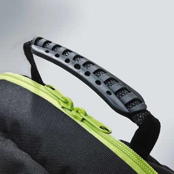 There is also a rubberised carrying handle