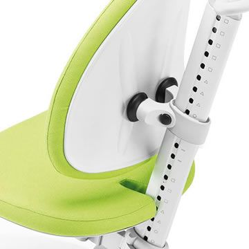 Child friendly, slim cushion shape. The back pad can be easily exchanged because of its bayonet fastener.